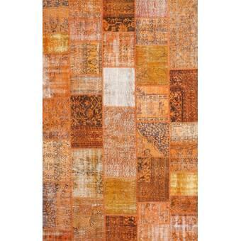 House Of Hampton Pilger Rust Orange Rug Wayfair