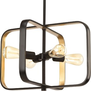 Affordable Geer 4-Light Square/Rectangle Chandelier By Ivy Bronx