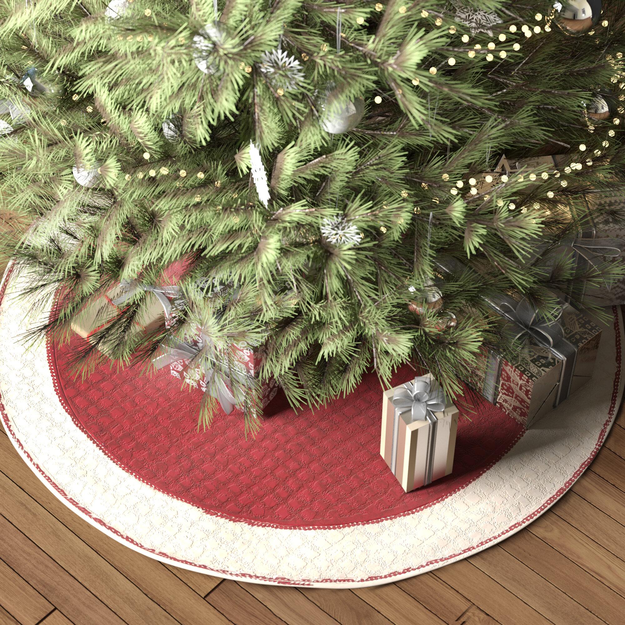 Three Posts Chenille Christmas Tree Skirt Reviews Wayfair