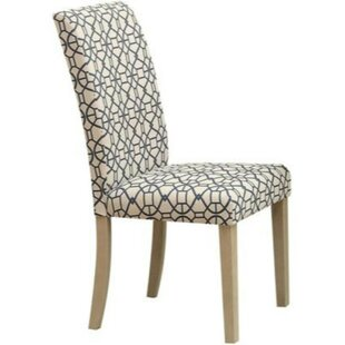 Bashaw Geometric Pattern Upholstered Dining Chair (Set of 2) by Charlton Home