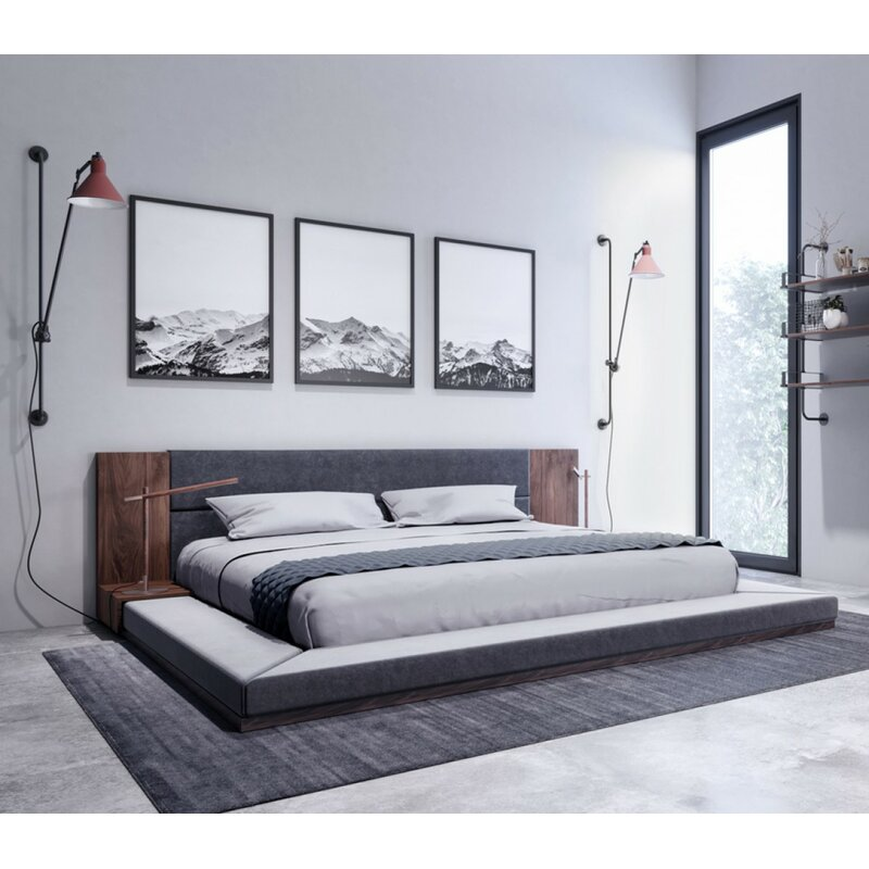 Foundry Select Defalco Upholstered Platform Bed Amp Reviews