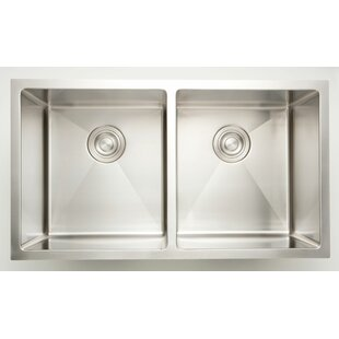 34 L x 18 W Double Basin Undermount Kitchen Sink By American Imaginations