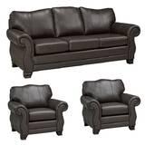 Jettie Leather 3 Piece Living Room Set by Fleur De Lis Living