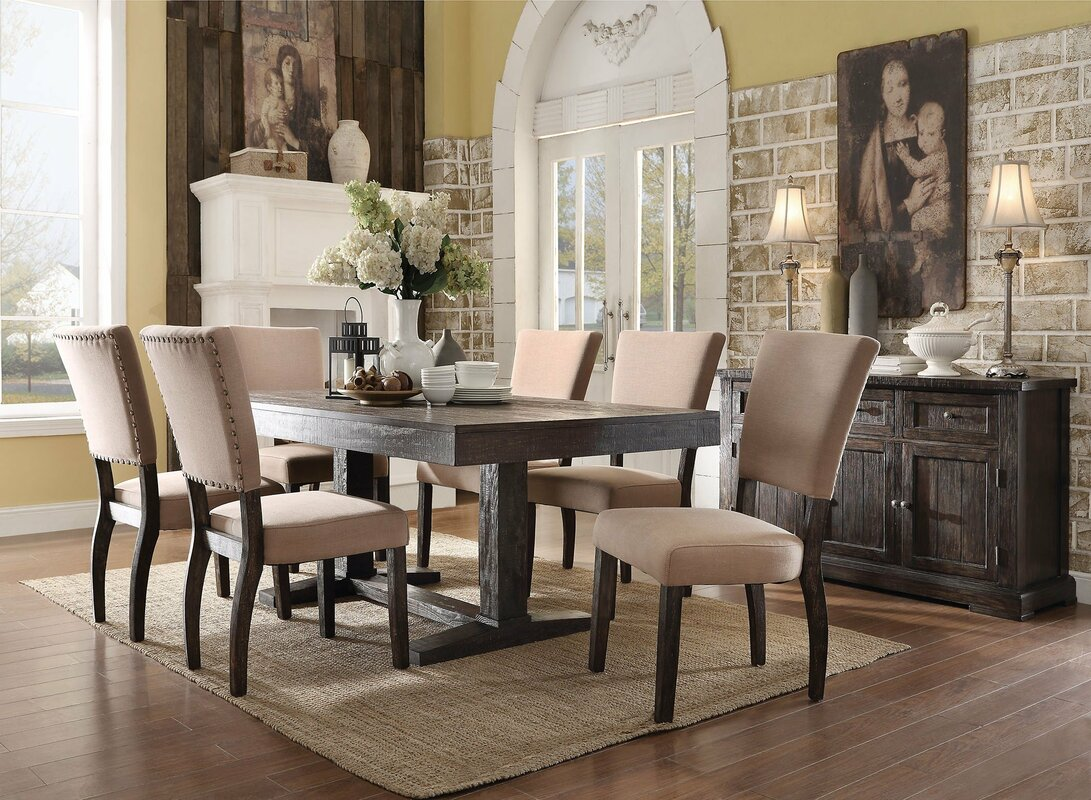 infini furnishings isabella 7 piece dining set u0026 reviews wayfair