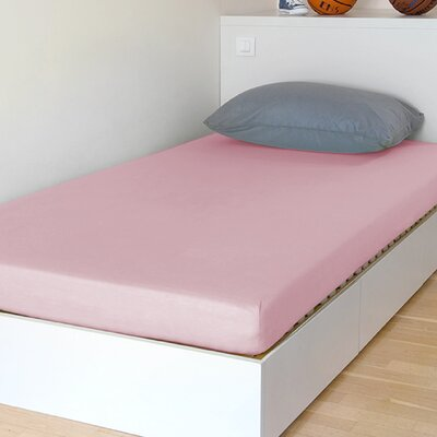 "Breathable And Waterproof Select Fitted Sheet And Protector Bsensible Size: 75"" H X 38"" W X 12"" D, Color: Pink"