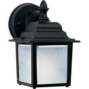 Coupon Mannox 1-Light Outdoor Wall Lantern By Three Posts