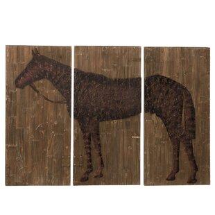 Large Horse Painting Print Plaque Set (Set of 3) e0f92740c