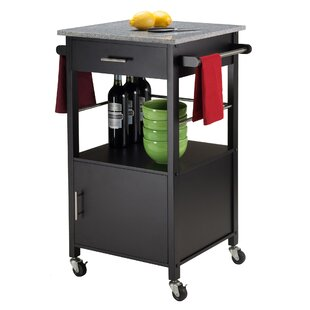 Davenport Kitchen Cart with Granite Top Winsome