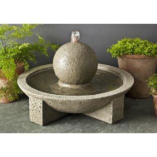 One Allium Way Kaelyn Concrete Sphere Fountain