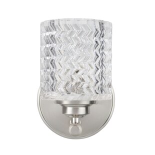 Orren Ellis Kirksey Metal 1-Light Bath Sconce