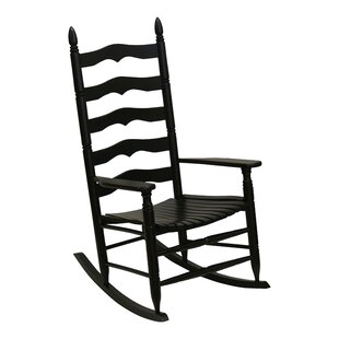Gracie Oaks Lake Macquarie Ladder Back Rocking Chair