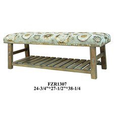 Wood Storage Entryway Bench by Crestview Collection
