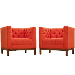 Panache 2 Piece Living Room Set (Set of 2) by Modway