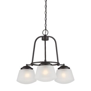 Designers Fountain Mason 3-Light Shaded Chandelier