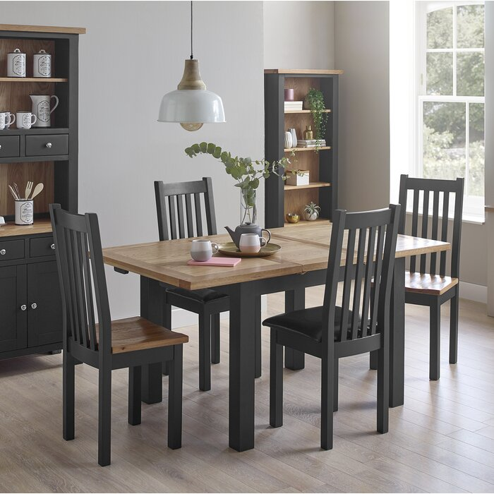 cheaper b1e06 0c2bf Aisling Compact Painted Dining Set with 4 Chairs