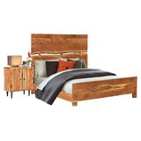 Evgeniya Queen Solid Wood Standard 2 Piece Bedroom Set by Loon Peak