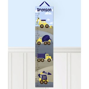 Construction Truck Personalized Canvas Growth Chart