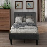 Moncure Twin Tufted Low Profile Platform Bed by Latitude Run®