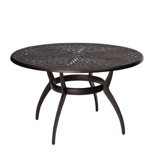 Apollo Round Umbrella Dining Table by Woodard Amazing