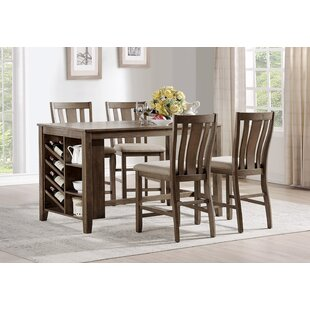 Manseau 5 Piece Pub Table Set Loon Peak