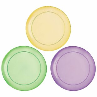 Mardi Gras Plastic Disposable Appetizer Plate (Set of 32)