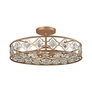 Bungalow Rose Cresson 8-Light Semi Flush Mount