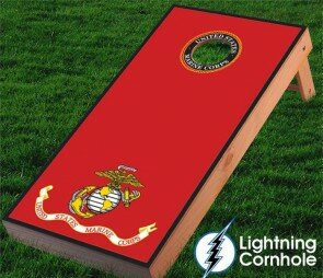 Lightning Cornhole Marines Cornhole Board