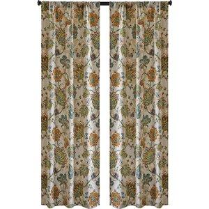 Baumgarten Nature/Floral Semi-Sheer Rod Pocket Curtain Panels (Set of 2)
