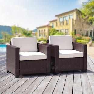 Ebern Designs Hazel Rattan Patio Chairs w..