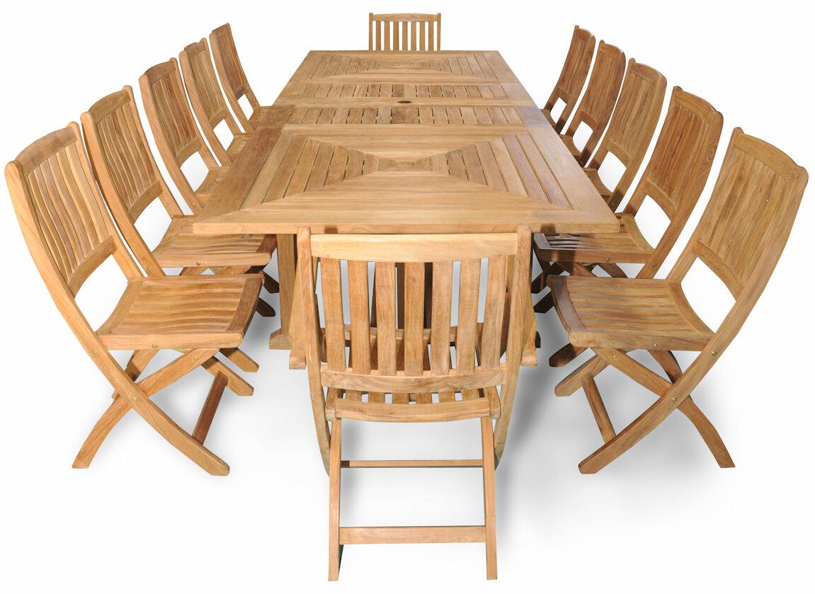 Ordinaire Regal Teak Sanibel Grand Teak 13 Piece Dining Set   Wayfair