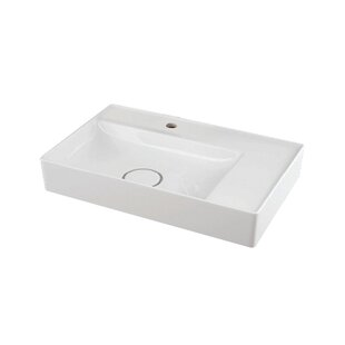 Reviews Martha Vitreous China Rectangular Vessel Bathroom Sink By Transolid