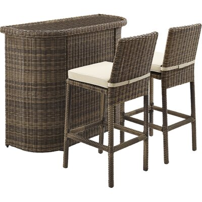 Dardel 3 Piece Bar Height Dining Set by Beachcrest Home