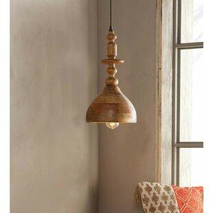 Lorena 1-Light Bell Pendant by Mistana