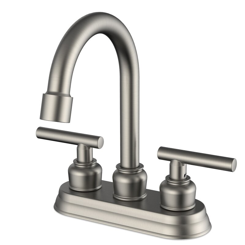 Daweier Centerset Bathroom Faucet with Drain Assembly ...