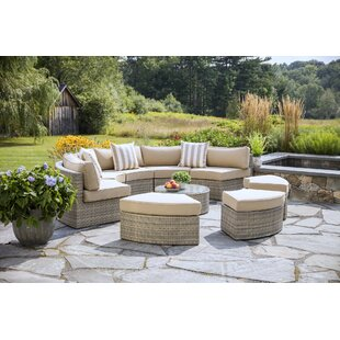Santorini 9 Piece Sectional Seating Group with Cushions