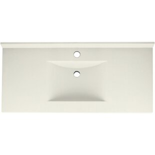 Contour Solid Surface 43 Single Bathroom Vanity Top By Swan
