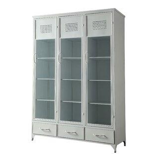 Kallas Metal Locker China Cabinet by Bungalow Rose