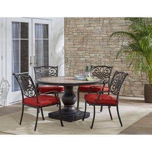 Fleur De Lis Living Copper 5 Piece Dining Set with Cushions