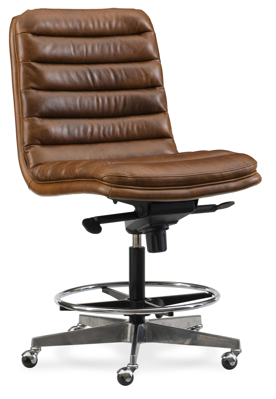 Furniture Wyatt Home Office High Back Leather Chair Wayfair