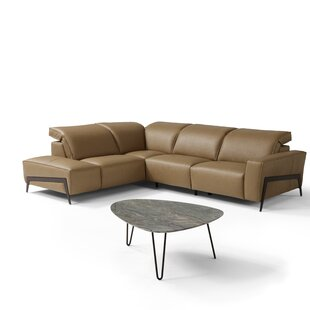 Top Norwell Leather Reclining Sectional by Orren Ellis Reviews (2019) & Buyer's Guide