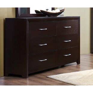 Nicholle Wooden 6 Drawer Double Dresser