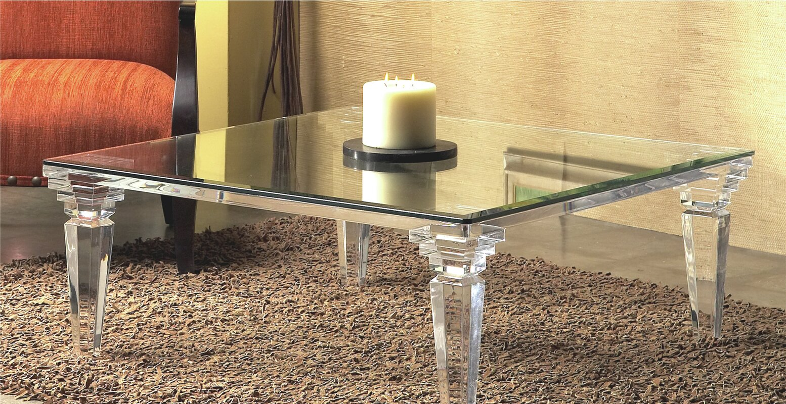 Acrylic coffee tables youll love wayfair classic coffee table geotapseo Images