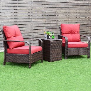 Leddy 3 Piece Rattan with Cushions