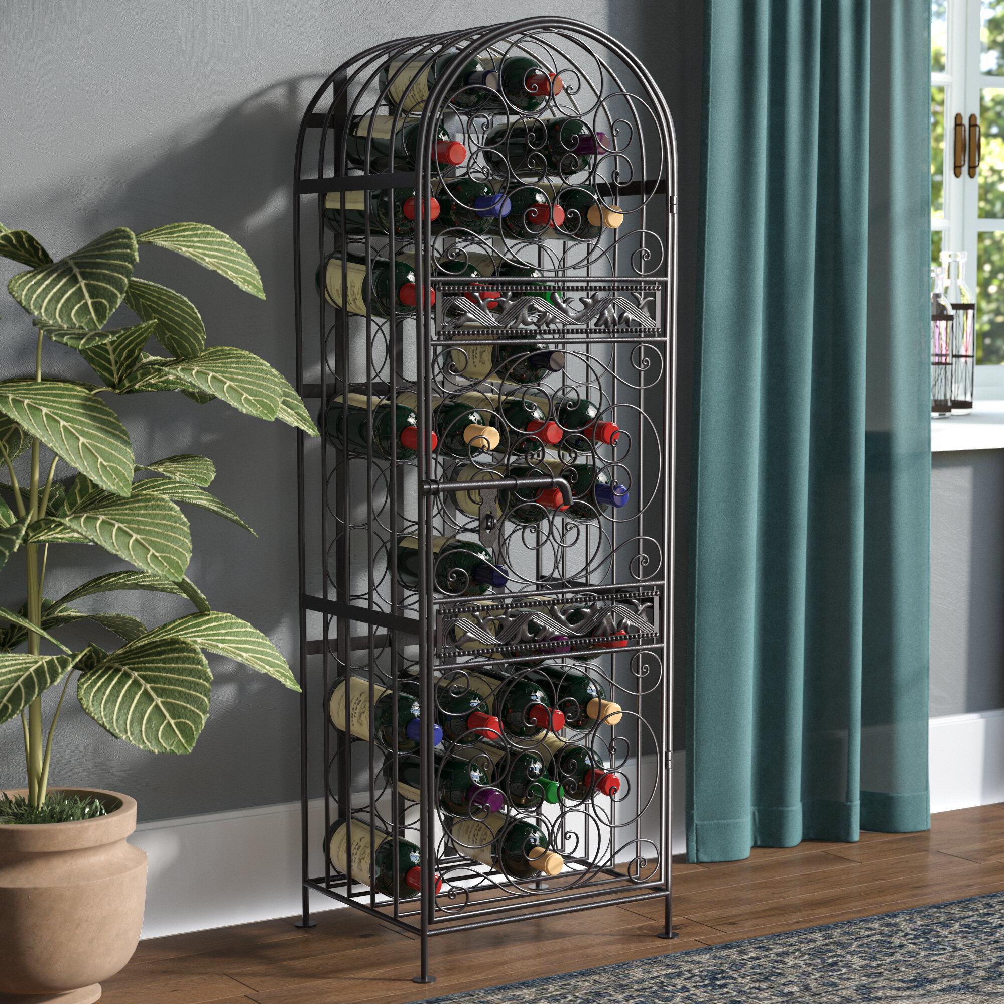 Three Posts Cutshall 45 Bottle Floor Wine Rack Reviews Wayfair. Marvellous  Design Gold ...