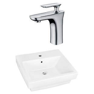 Check Prices Ceramic Rectangular Vessel Bathroom Sink with Faucet and Overflow ByRoyal Purple Bath Kitchen