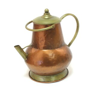 Decorative Jug In Copper And Antique Gold By Brambly Cottage