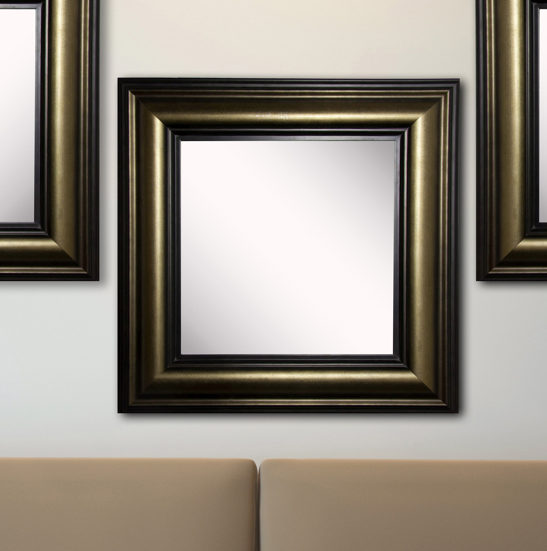 Charlton Home 3 Piece Kimzey Stepped Antiqued Traditional Wall Mirror Set Wayfair