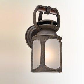Dawn 1-Light Glass Shade Outdoor Wall Lan..