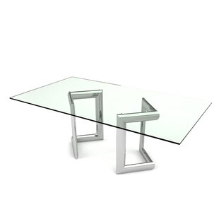 Freeman Rectangular Dining Table by Orren Ellis Read Reviews
