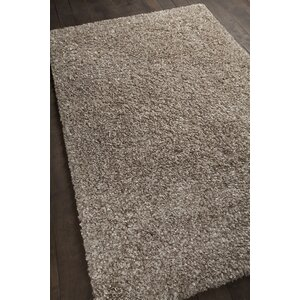 Jolynn Textured Contemporary Shag Taupe Area Rug